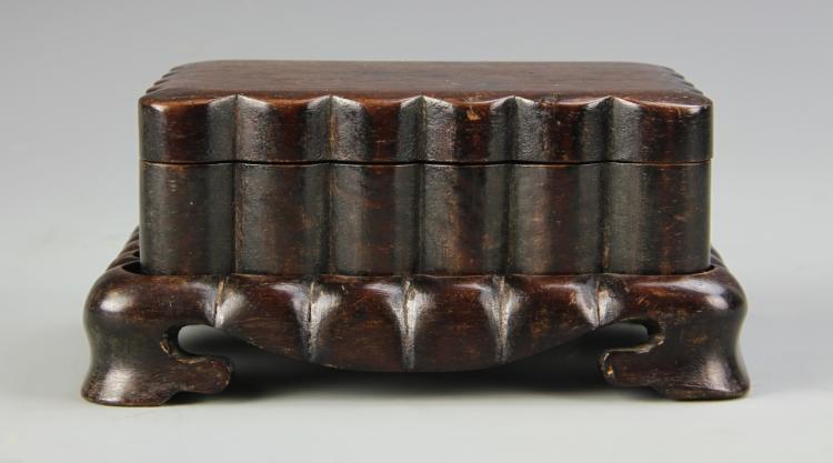 Chinese Zitan Ink Box