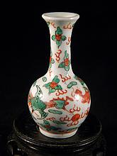 ANTIQUE CHINESE DRAGON AND PHEONIX VASE