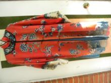 Antique Chinese Red Embroidery Clothes