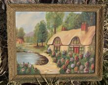 Vintage Oil Painting Marked