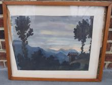 Watercolor Painting Framed