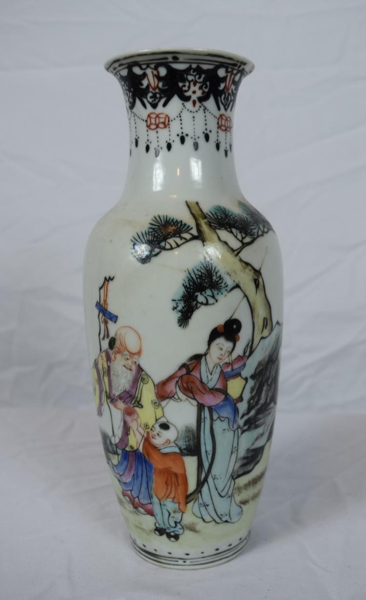 Antique chinese famille rose vase for Asian antiques uk
