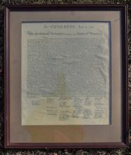 Paper about in Congress, July 4, 1776 Framed