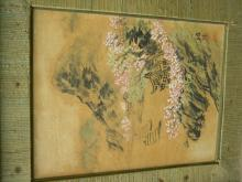 Antique Asain Painting Framed