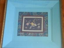 Vintage Chinese Embroidery Framed