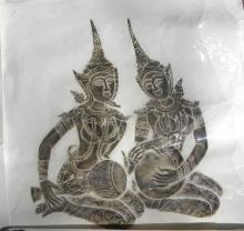 Antique Two Buddhas' Figure
