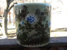 Antique Chinese Celadon Porcelain Brush Holder