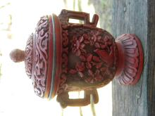 Antique Chinese Laquer Cup with Cover