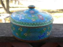 Antique Chinese Cloisonne Box Box with cover