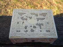 Antique Chinese Carved Box Qing Dynasty