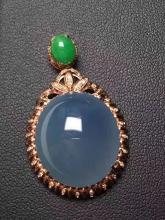18K Gold Natural Purple Jadeite Pendant
