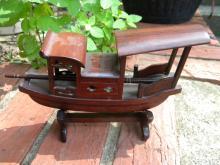 Vintage Mahagony Rosewood Carved Boat