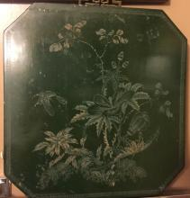 Antique Chinese Green Lacquer Panel, size: 13.5