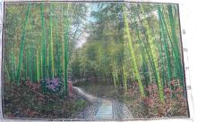 VINTAGE SILK PANEL OF BAMBOO BY HANG ZHOU FACTORY