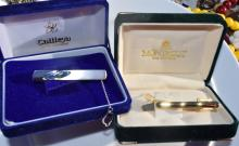 Two Tie Clips with Original Boxes
