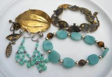 Group of Vintage Jewelry Marked 24K