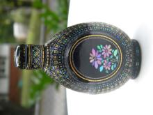 Antique Chinese Lacquer and Mother of Pearl Snuff Bottle