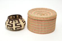 Native American or Woven Basket Containers, 2