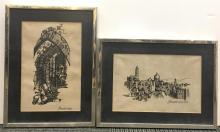 Judaica Embroidery- 2 Views of Jerusalem
