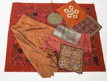 Southeast Asian Textiles & Embroidery, 8 Pcs.
