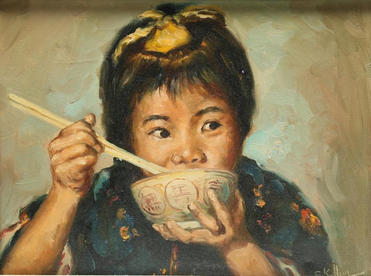 C.K. Har (Chinese, 20th C.) - Oil on Canvas