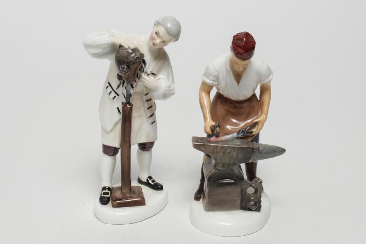 Royal Doulton Williamsburg Porcelain Figurines, 2