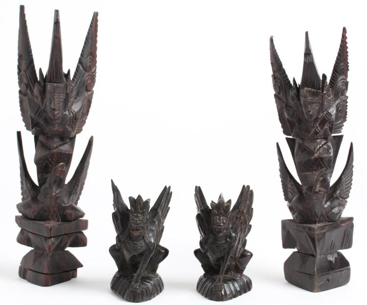 Indonesian Hand-Carved Figures, 4