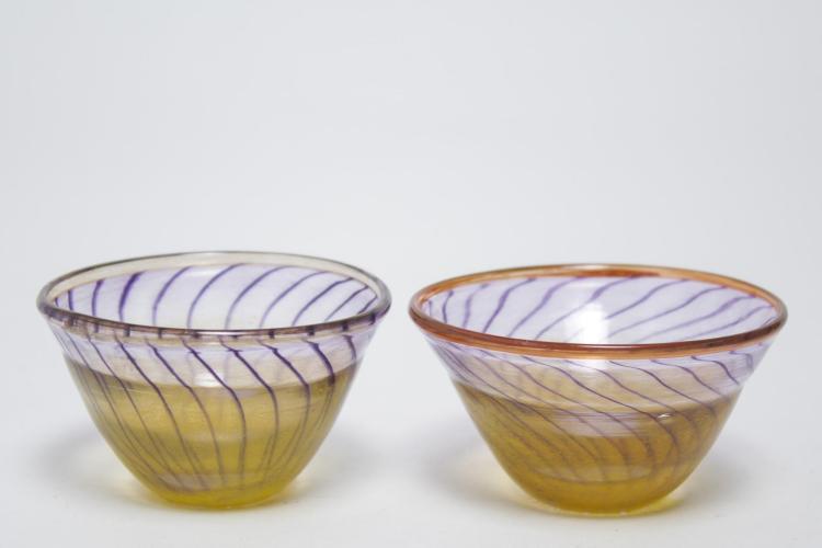 Kjell Engman Kosta Boda Swedish Art Glass Bowls- 2