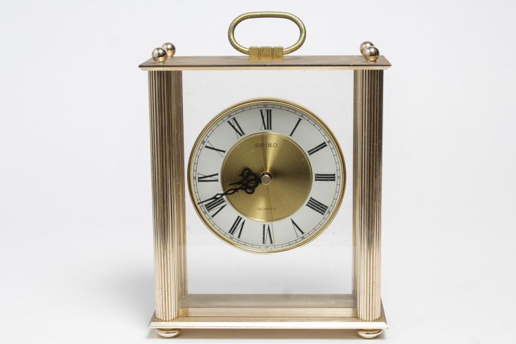 Seiko Brass Desk Clock, Quartz Movement