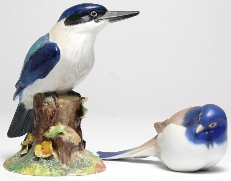 Vintage Porcelain Bird Figurines, Danish & English