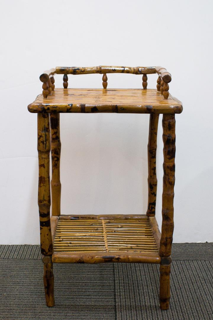 Antique Arts & Crafts Bamboo Side Table