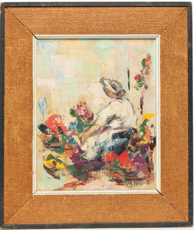 Signed Polon- Still Life Oil on Canvas