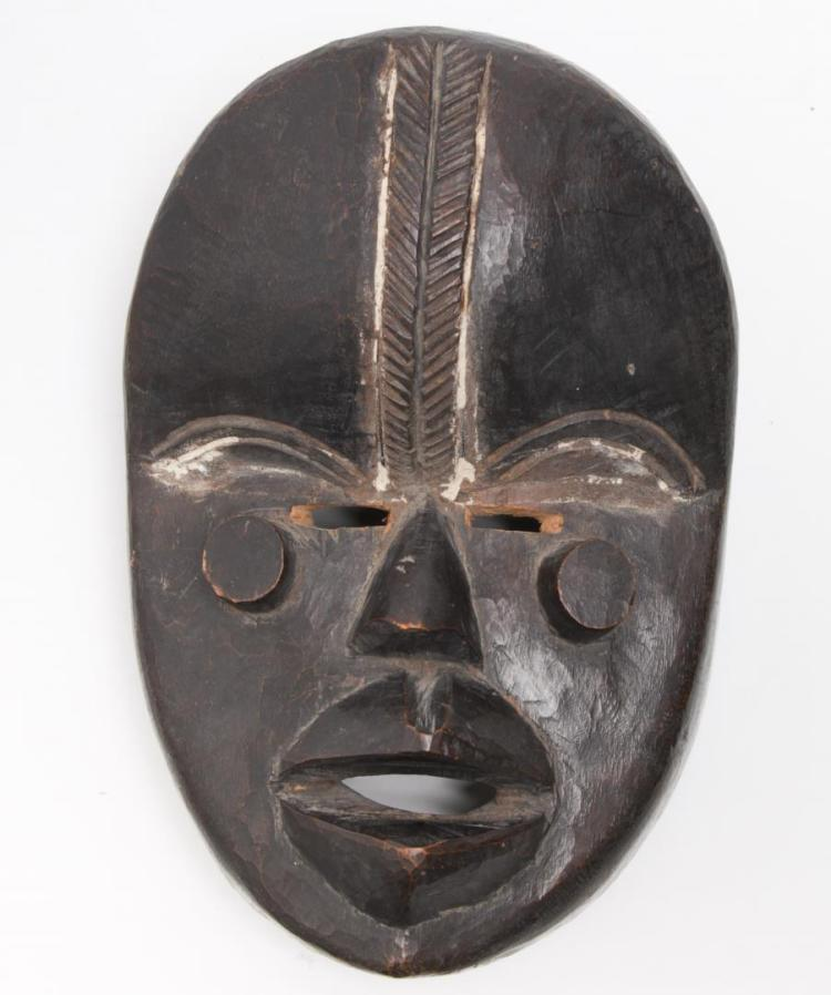 African Tribal Dan Mask, Carved Wood