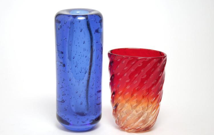 Mid-Century Modern Art Glass Vases, 2