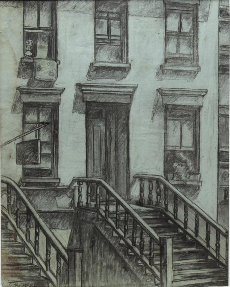 Otto Rothenburg (American, 1893-1992)- Charcoal