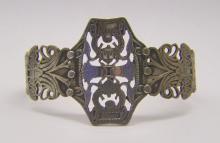 Egyptian sterling silver  scarab cuff bracelet
