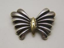 KRYPELL 14k sterling silver brooch pin