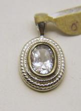 SETA sterling silver Cz pendant
