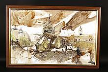 Oil on Canvas, Abstract, Wladislaw Popielarczyk