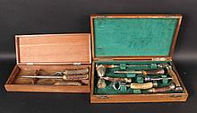 Horn Sterling Silver Mounted Boxed Bar Set