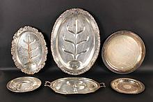 Group of Silver Plated Trays