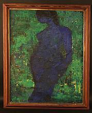 Oil on Canvas, Blue Nude Woman, DeSimone