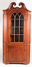 Chippendale Style Pine Corner Cupboard