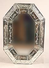 Venetian Style Etching Glass Mirror