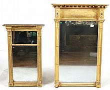 Two Federal Giltwood Pier Mirrors