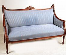 Victorian Carved Mahogany Settee