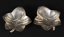 Pair of Tiffany &Co; Makers Sterling Silver Dishes