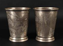 Pair of GWD Sterling Silver Large Julep Cups