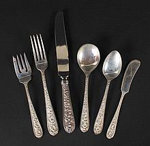 Stieff Sterling Silver Flatware Service For Eight