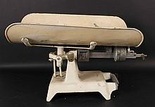 White Painted Fairbanks Doctors Baby Scale